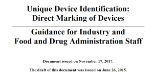 UDI Guideline Direct Marking of Devices FDA Elmicron